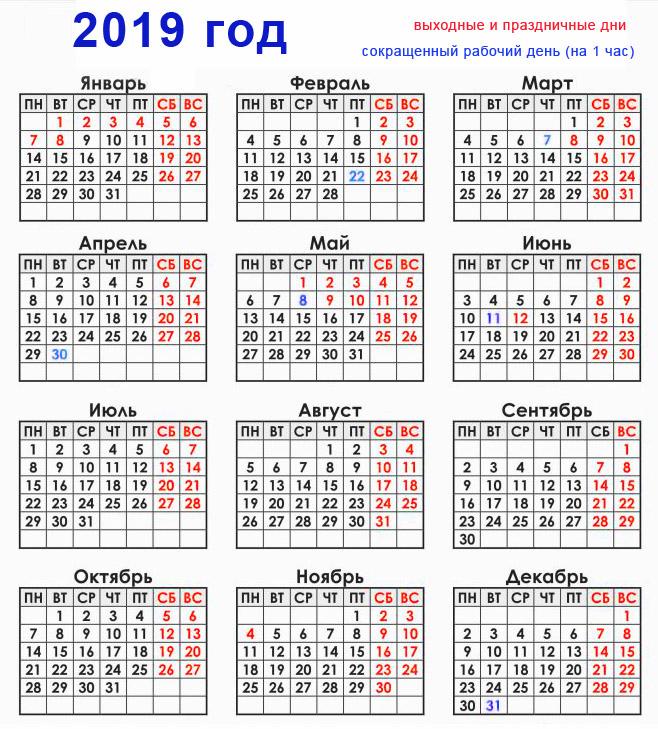 Выходные и праздничные дни в ноябре 2019 года в России: календарь рекомендации